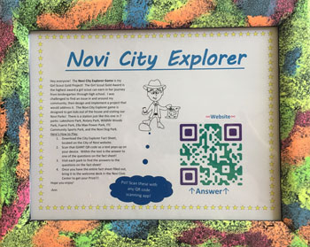 City Explorer Sign