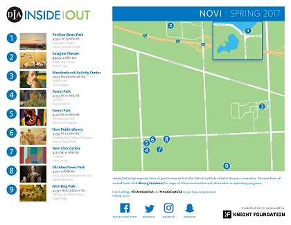 DIA Inside Out Map of Artwork Locations