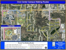 Civic Center Walking Routes Map