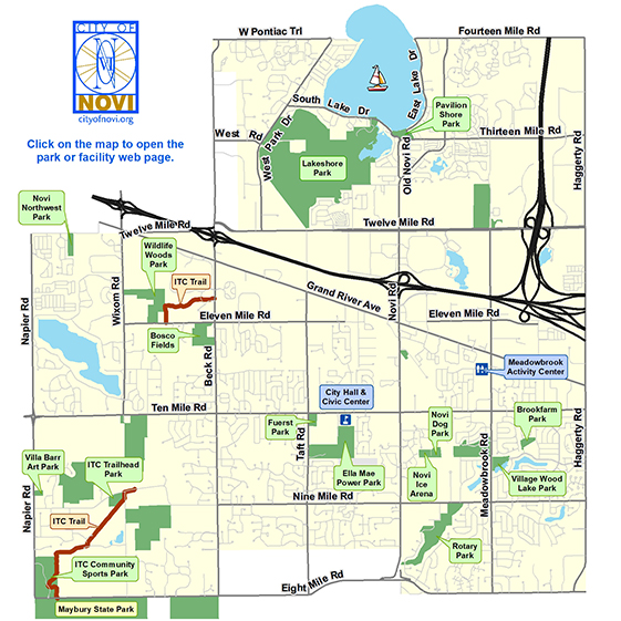 City of Novi Michigan Parks and Recreation Facilities