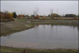View of Storm water control basin