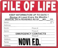 File of Life magnetized folder