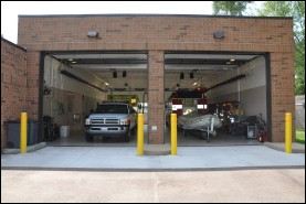 Vehicle bays at Fire Station 2