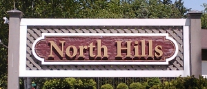 North Hills sign