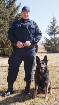 K-9 dog and handler