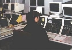 Woman at dispatch desk