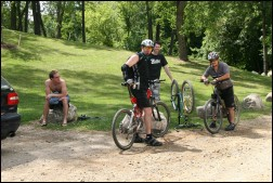 Mountain Bikers at Lakeshore Park