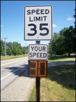 Speed sign
