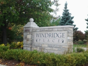 Windridge Park Entrance Sign