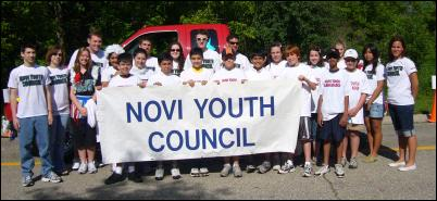 Youth Council posed at Memorial Day Parade